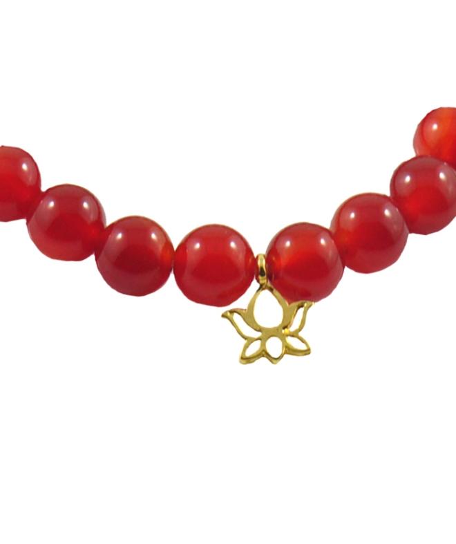 Red Lotus Bracelet for men