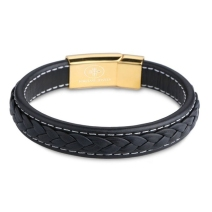 18k Gold Leather Bracelet