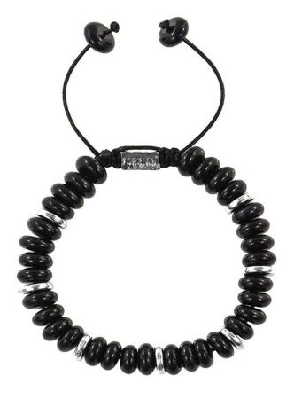 Explorer Black Onyx Disk Beads Bracelet