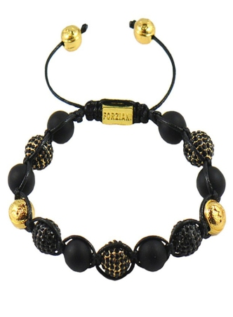 Men's All Powerful Onyx Matte & CZ Diamonds Pavè Bracelet