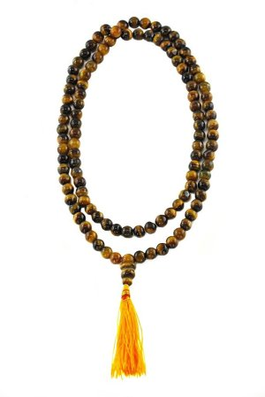 Strength and Confidence Tiger Eye 108 Beads Mala
