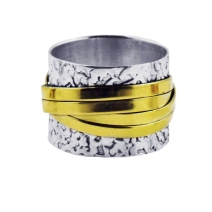 The Scroll Ring in Gold & Silver